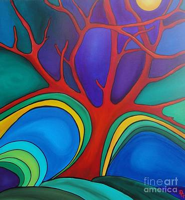 Painting - Red Tree by Deborah Glasgow