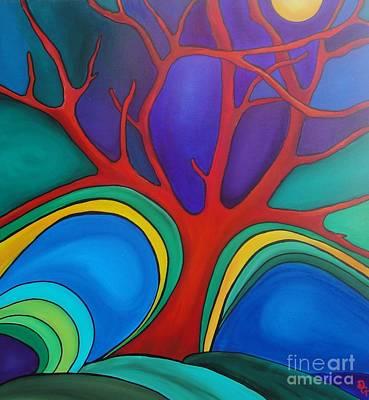 Painting - Red Tree by Deborah Glasgow
