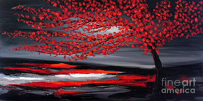 Painting - Red Tree by Preethi Mathialagan