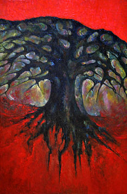 Avesome Painting - Red Tree by Wojtek Kowalski