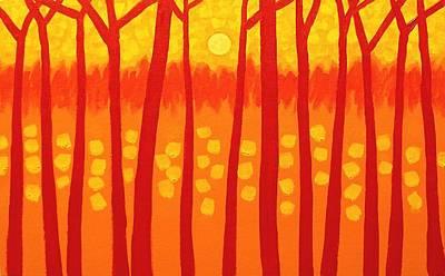 Red Trees Original by John  Nolan