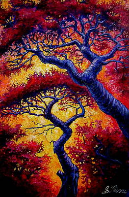 Painting - Red Trees by Sebastian Pierre
