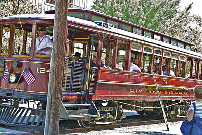 Photograph - Red Trolley by SC Heffner