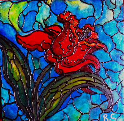 Painting - Red Tulip by Rae Chichilnitsky
