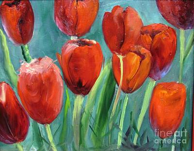 Red Tulips By Barbara Haviland Art Print