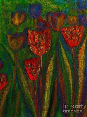 Painting - Red Tulips by Claire Bull