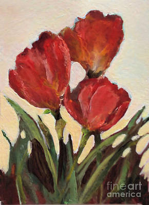 Painting - Red Tulips by Diane Ursin