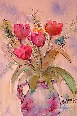 Painting - Red Tulips by Jessamine Barron