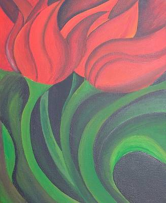 Painting - Red Tulips by Taiche Acrylic Art