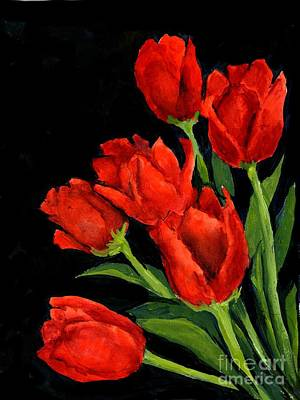 Painting - Red Tulips by Virginia Potter