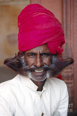 Photograph - Red Turbaned Guard - Jaipur India by Craig Lovell