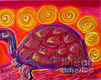 Painting - Red Turtle by L Cecka