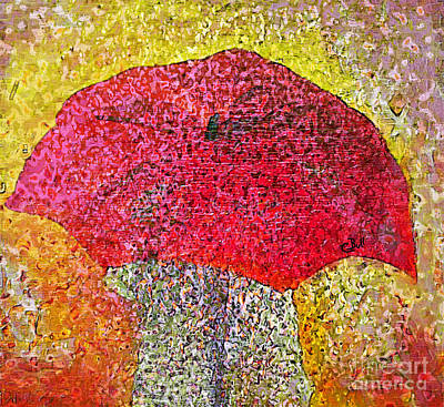 Photograph - Red Umbrella by Claire Bull