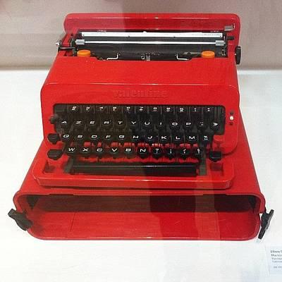 Typewriter Photograph - #red #valentine #typewriter #olivetti by C J