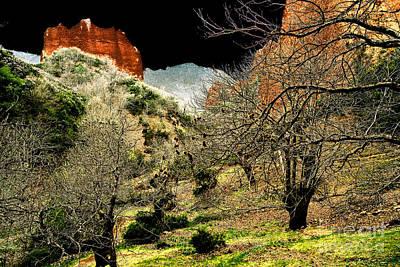 Digital Art - Red Valley by Rudi Prott