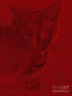 Digital Art - Red  Value by Oksana Semenchenko