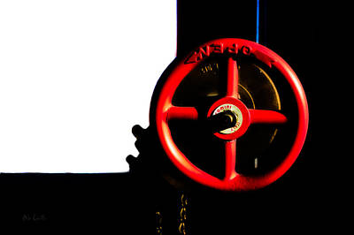 Photograph - Red Valve  by Bob Orsillo