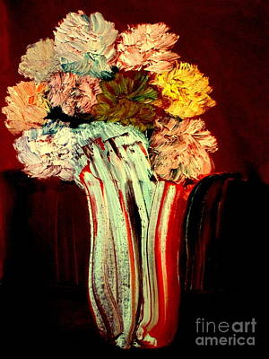 Art Print featuring the painting Red Vase 7 by Bill OConnor