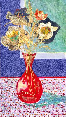 Red Vase I Art Print by Diane Fine