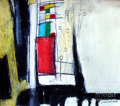 Modernism Mixed Media - Red Vase by Venus