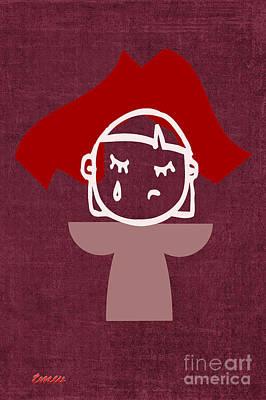 Red Veil Art Print by Tina M Wenger