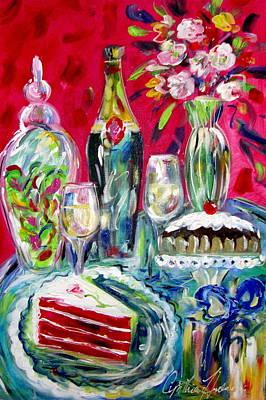 Red Velvet Cake Art Print by Cynthia Hudson