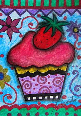 Painting - Red Velvet Cupcake by Pristine Cartera Turkus