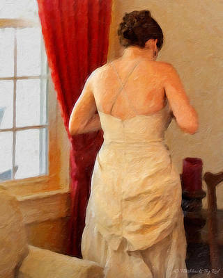 Painting - Red Velvet Curtain by Melody McBride