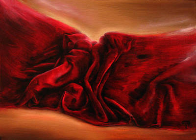 Red Velvet Art Print by Tanya Byrd