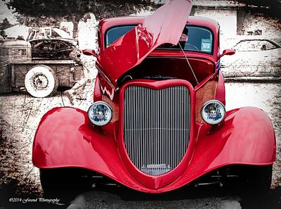 Photograph - Red Vintage Car  by Debra Forand