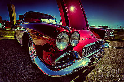 Photograph - Red Vintage Chevy Corvette by Danny Hooks