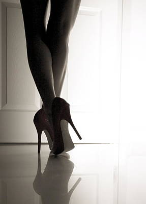 High Heel Photograph - Red Violin by Erik Schottstaedt