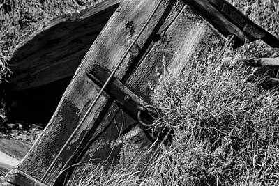 Photograph - Red Wagon Bw by Denise Dube