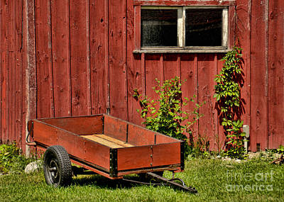 Photograph - Red Wagon by Gerda Grice