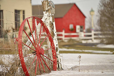 Photograph - Red Wagon Wheel by Joshua McCullough