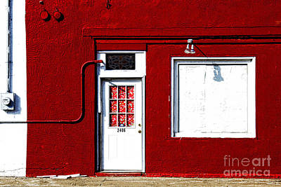 Texas Cities Photograph - red wall in Hico by Elena Nosyreva