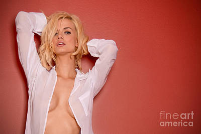 Perky Breasts Photograph - Red Wall by Jt PhotoDesign
