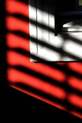 Photograph - Red Wall With Shadows by Michael Saunders
