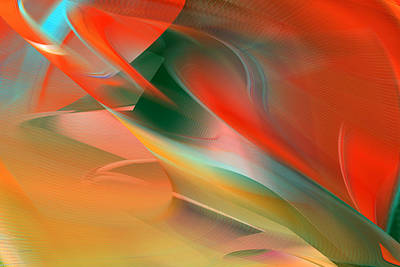 Digital Art - Red Wash Abstract by rd Erickson