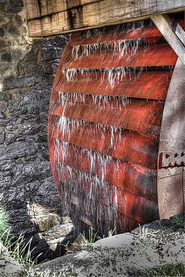 Photograph - Red Water Mill by Lucia Vicari