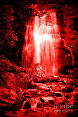 Photograph - Red Waterfall by Cynthia Mask