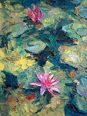 Red Waterlily  Art Print