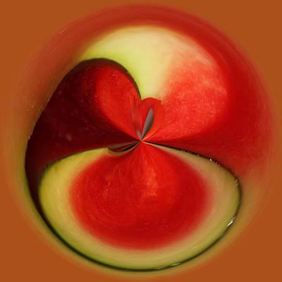 Watermelon Mixed Media - Red Watermelon by Cynthia Guinn