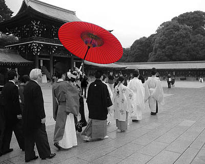 Animal Portraits - Red Wedding Umbrella 3 by Tom Reynen
