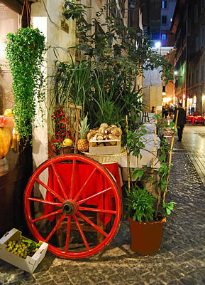 Photograph - Red Wheel In Rome by Caroline Stella