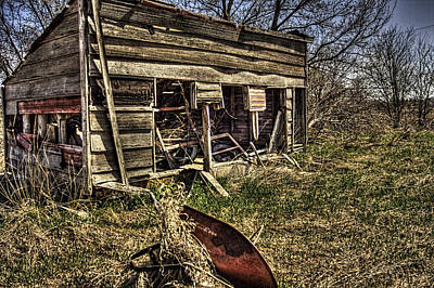 Photograph - Red Wheelbarrow by Roger Passman