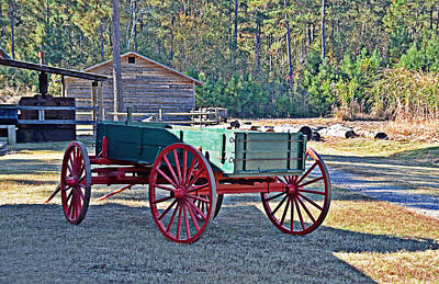 Photograph - Red-wheeled Wagon by Linda Brown