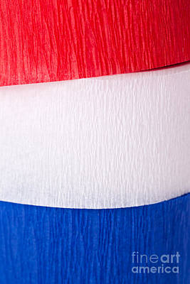 Crepe Paper Photograph - Red White And Blue Crepe Paper by Leslie Banks