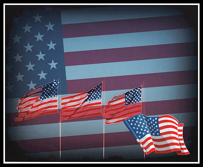 4th July Digital Art - Red White And Blue by Kay Novy