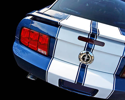 Photograph - Red White And Blue Mustang Gt Rear by Gill Billington